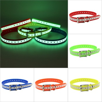 Pet dog collar TPU+Nylon night glowing Reflective night Safety collars deodorant waterproof collar pet supplies